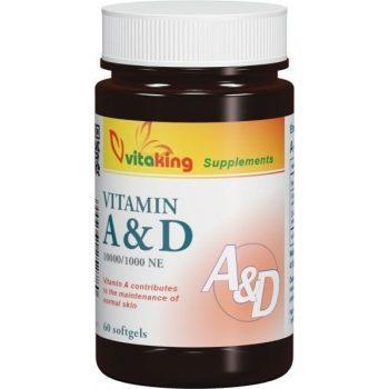 Vitaking A&D vitamin – 60db kapszula